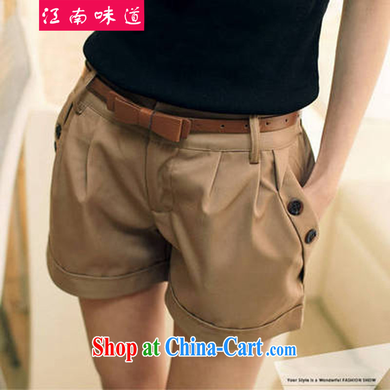 Gangnam-gu taste the code shorts girls summer thick sister summer Korean fat, female video thin hot pants and indeed XL solid color shorts 007 deep card its color XXXL