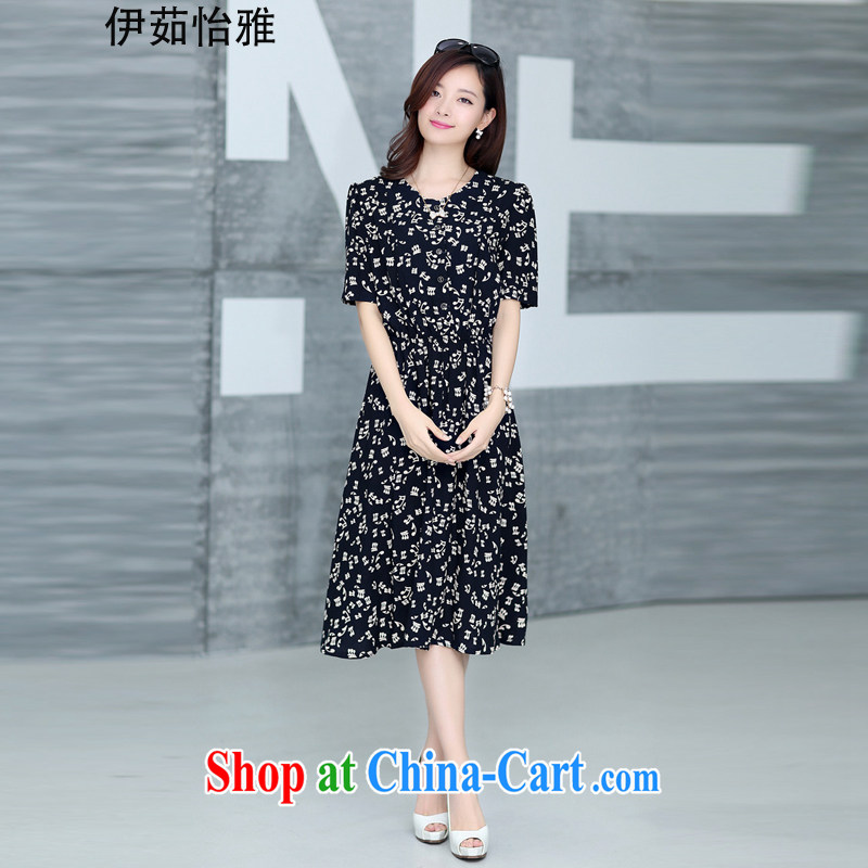 The Ju-Yee Nga 2015 summer new Korean fat people video thin floral long skirt the code dress dresses YJ 73,382 notes XXXXL