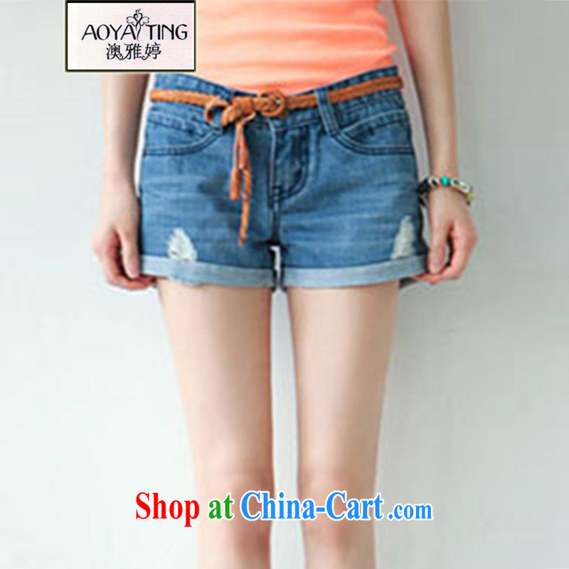 o Ya-ting new summer, indeed the XL female thick mm video gaunt waist denim shorts girls hot pants personalized photo color 4 XL recommends that you 160 - 180 jack