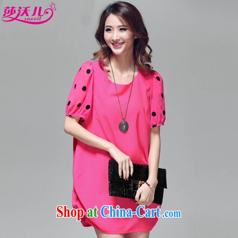 Elizabeth's children in summer, new short-sleeved and indeed XL girls thick mm Pearl Paris Fashion hit color wave point bubble cuff lanterns dresses D 2025 by red 3 XL