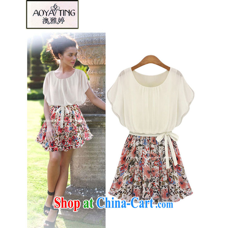 o Ya-ting 2015 New, and indeed increase, female summer mm thick graphics thin floral dress girl picture color 5 XL recommends that you 175 - 200 jack