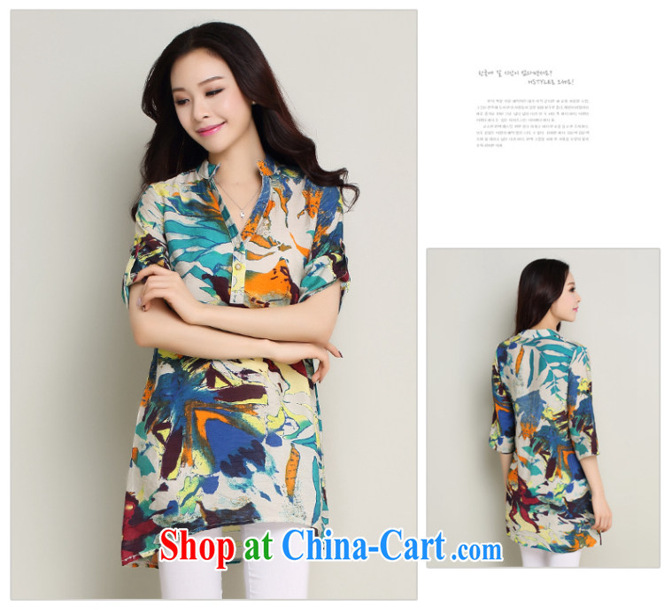 Standing wave following the Code women summer 2015 New floral cotton in the long stamp loose T-shirt, shirt orange XXL pictures, price, brand platters! Elections are good character, the national distribution, so why buy now enjoy more preferential! Health