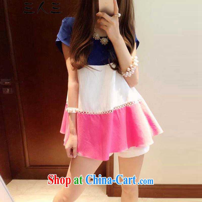 3, 32,015 summer maximum code female dresses spell color snow woven shirts larger dresses of 5082 red XXL 150 - 170 jack