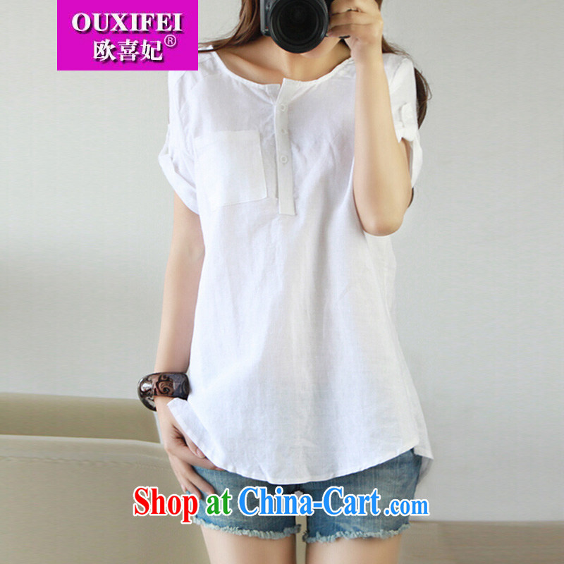 The Commission cotton Dress Shirt linen blouses, women, literature and fearless young man the the shirt the code L 1327 light green XXL, OSCE-hi Princess OUXIFEI), online shopping