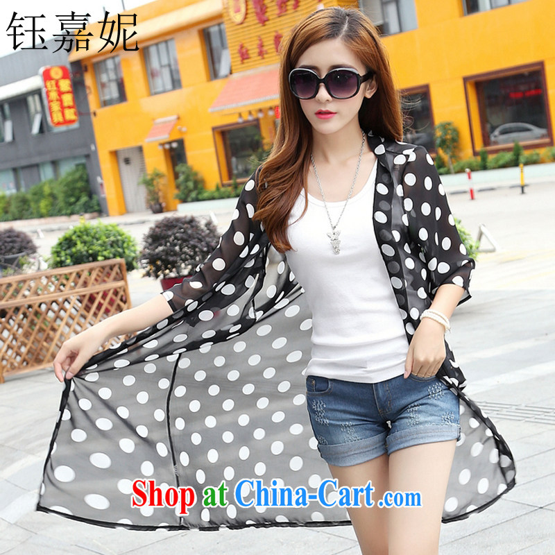Hon Jasper Tsang Yok-sing, Connie 2015 summer New UV sunscreen shirts larger female 100 ground-yi girls jacket 267 black XXL