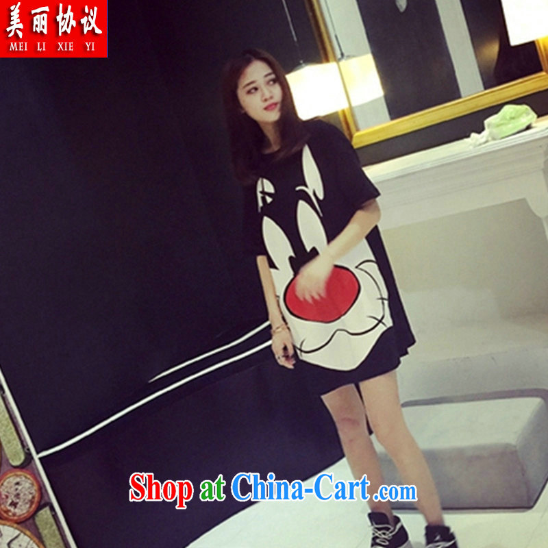 Beautiful agreement 2015 and indeed increase, female 200 Jack summer graphics thin cotton T shirts skirts thick sister in long dresses SJL 2671 black are code