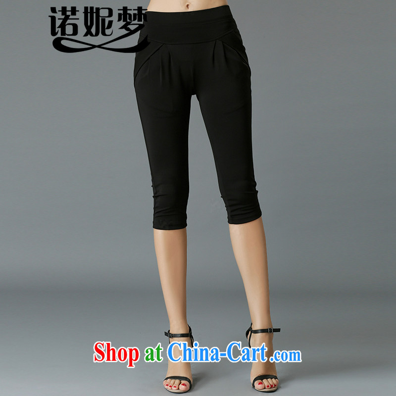 Connie's dream in Europe and America, the female summer 2015 new thick mm spring beauty graphics thin stylish 7 pants girls 100 solid ground pants Y 3364 black XXXXL