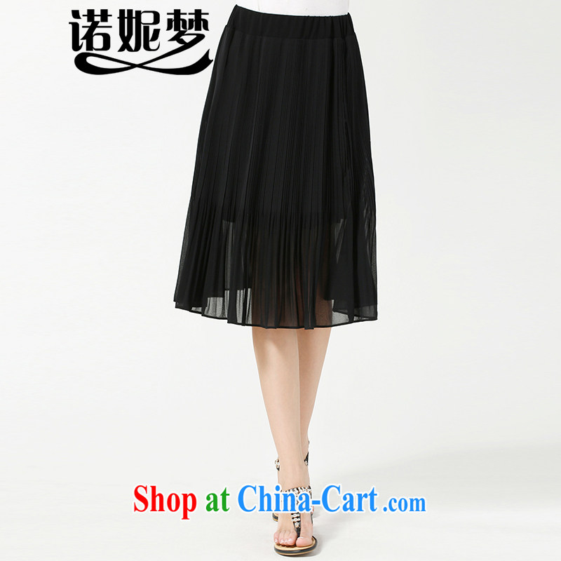 Connie's dream in Europe and indeed the XL female 200 Jack mm thick summer 2015 new stylish 100 hem snow woven body skirt the skirt s 3611 black XXXXL