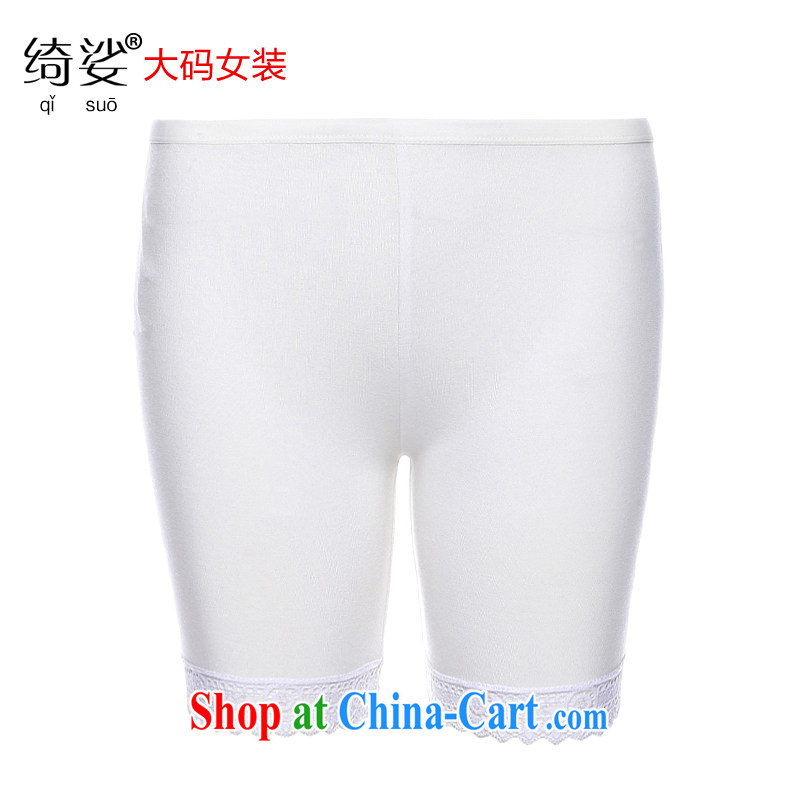 cheer for the code summer new products safety trousers anti-Go underwear lace lace 100 ground 3 solid Trouser press 2756 white 4XL