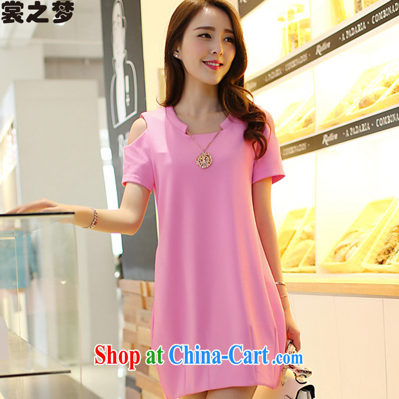 Advisory Committee's dream summer 2015 new thick mm summer is indeed the XL female Korean version of the new graphics thin beauty thick sister dress 8518 pink L