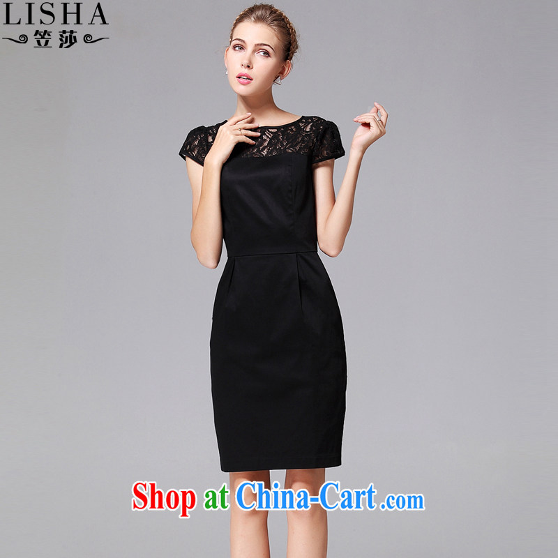 She considered the Code women dresses 2015 summer and indeed intensify lace thick MM dresses 200 Jack thick girls are decorated graphics thin, 441 black XXXL