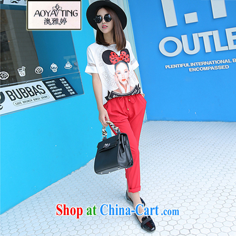 o Ya-ting 2015 summer new, indeed the XL women mm thick snow woven short sleeve shirt T female 9, trouser press kit picture color two-piece 3 XL recommends that you 145 - 165 jack