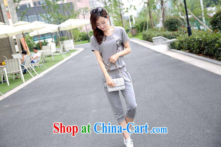 First Chin Ching snow 2015 summer new, larger female liberal short-sleeve T-shirt shorts two piece set with summer 648 gray XXL pictures, price, brand platters! Elections are good character, the national distribution, so why buy now enjoy more preferential! Health