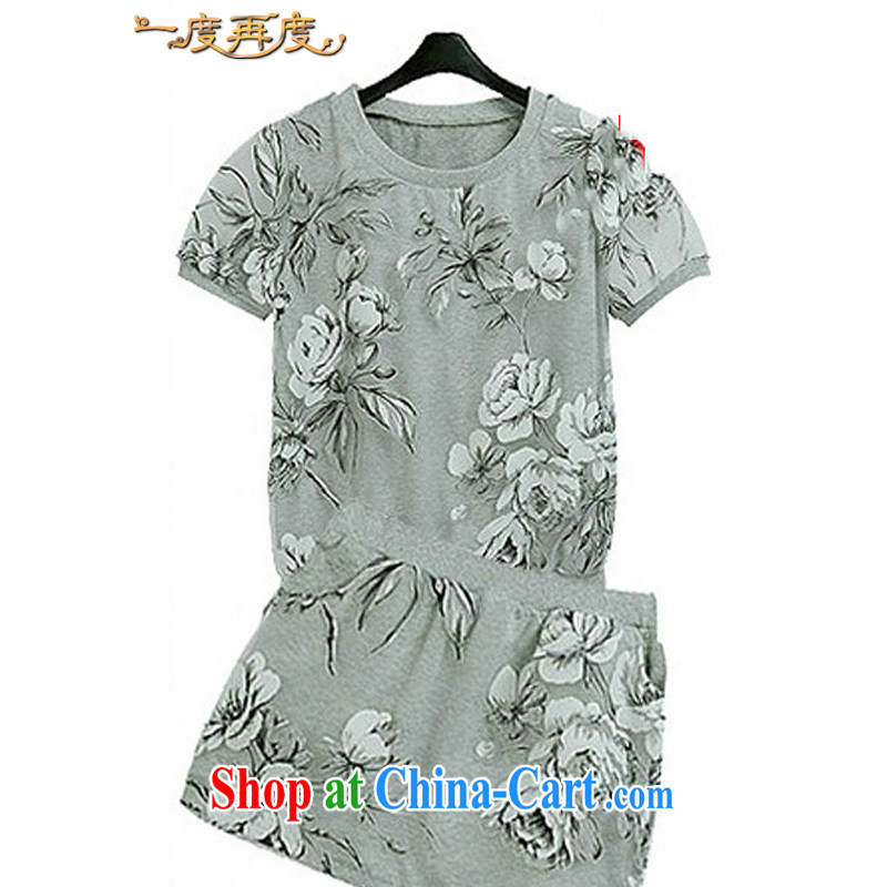 ydzd mm thick summer 2014 the code package thick sister summer Female European root yarn short-sleeve T shirts short skirts package \picture color 4 XL = 160 - 180 jack