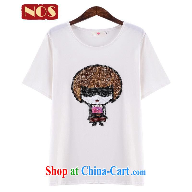 Summer NOS new XL girls cotton T shirt cute pattern comfort and breathability female T-shirt Y 56,311 large white code 5 XL
