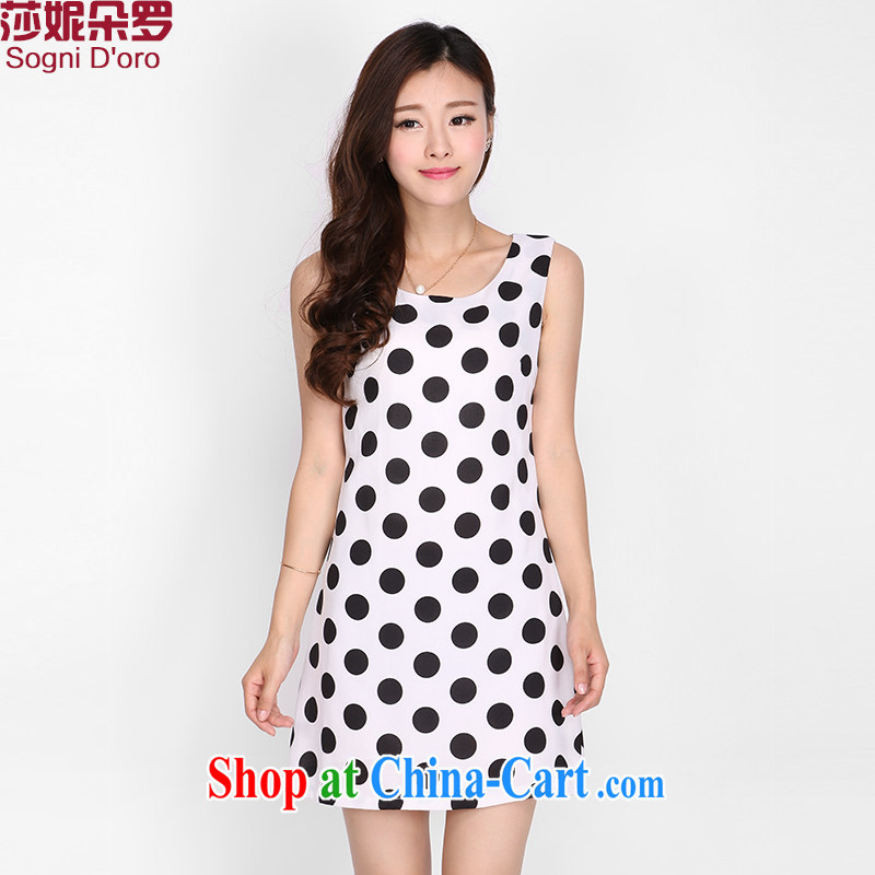 Laurie, flower 200 Jack larger female summer mm thick 2015 summer skirt solid and indeed intensify vest dresses 2114 white 6 XL