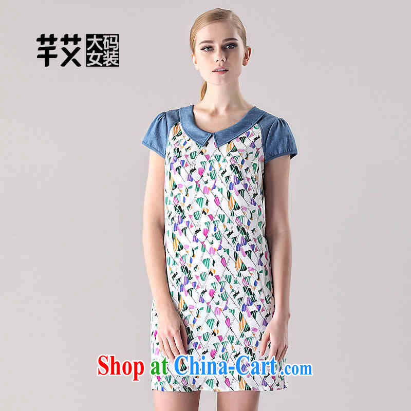 The Constitution is the female 2015 summer new, mm thick and fat and loose stamp Dress Suit 2668 128_5 XL