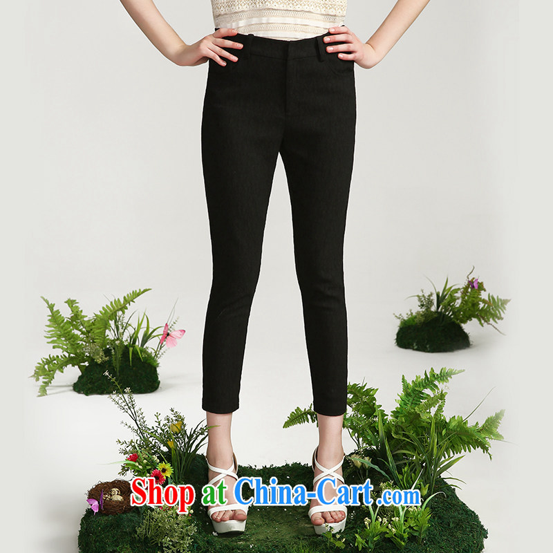 The Mak is the girls with 2015 summer new thick mm leisure 100 ground graphics thin 9 pants 652091138 black 2 XL
