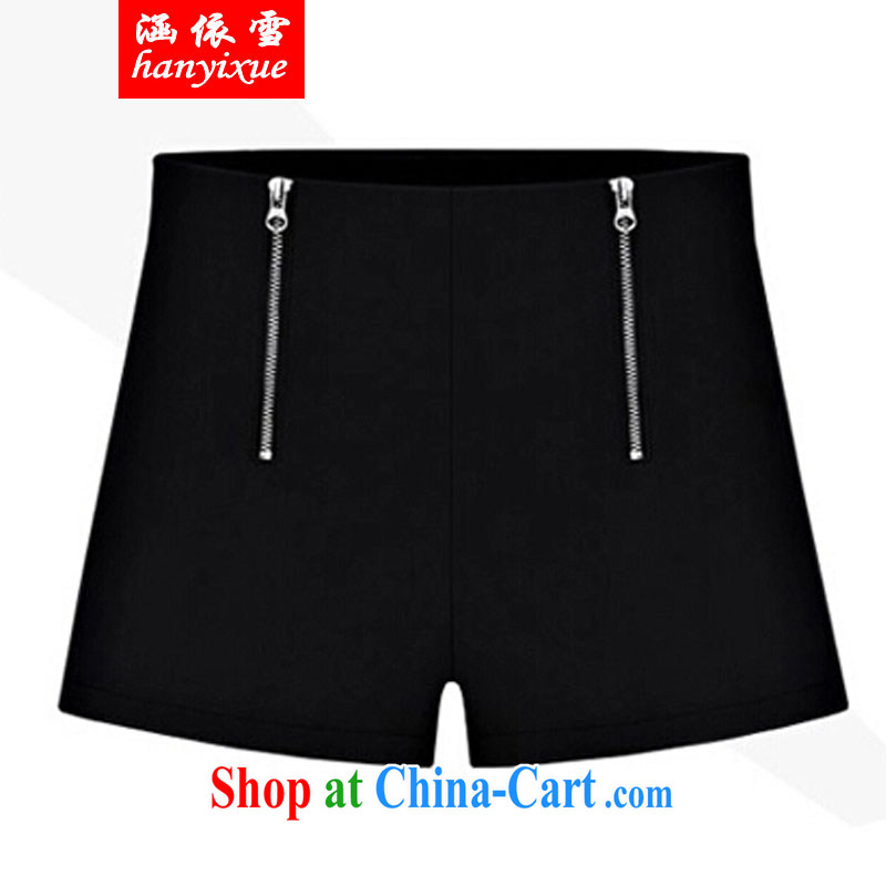 covered by snow in accordance with thick mm summer new 2015 plus fat XL shorts 200 Jack thick sister summer graphics thin pants female black XXXXL