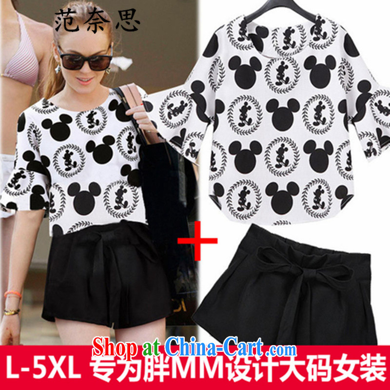 The Code female graphics thin summer short-sleeved shirt T mm thick spring is the increased burden on sister shorts package picture color XL