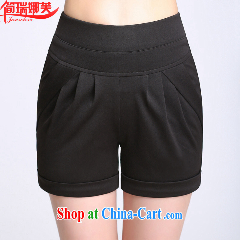 In short, would be the 2015 summer new paragraph candy colored Stretch video thin thick sister larger white casual pants, shorts girl hot pants 8111 black XXL