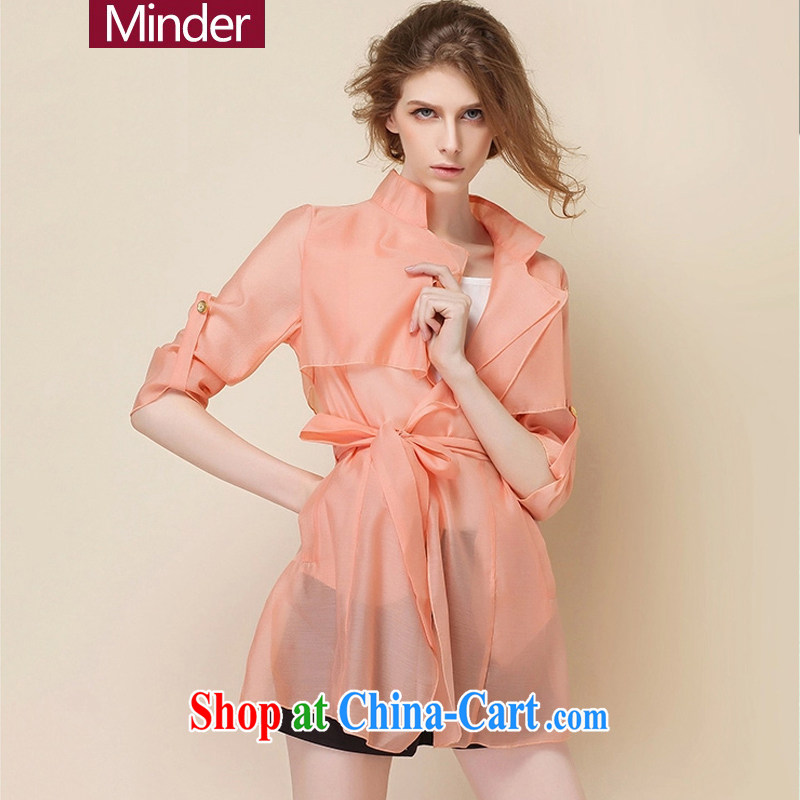 Sunscreen and UV resistant Ultra-thin 2015 new jacket, long-sleeved sunscreen clothing for women summer thin pink XL