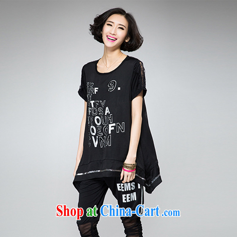 The Gore level, summer 2015 new Korean version 200 Jack the Code women mm thick loose video thin T-shirt black 4XL, US the quality products, online shopping