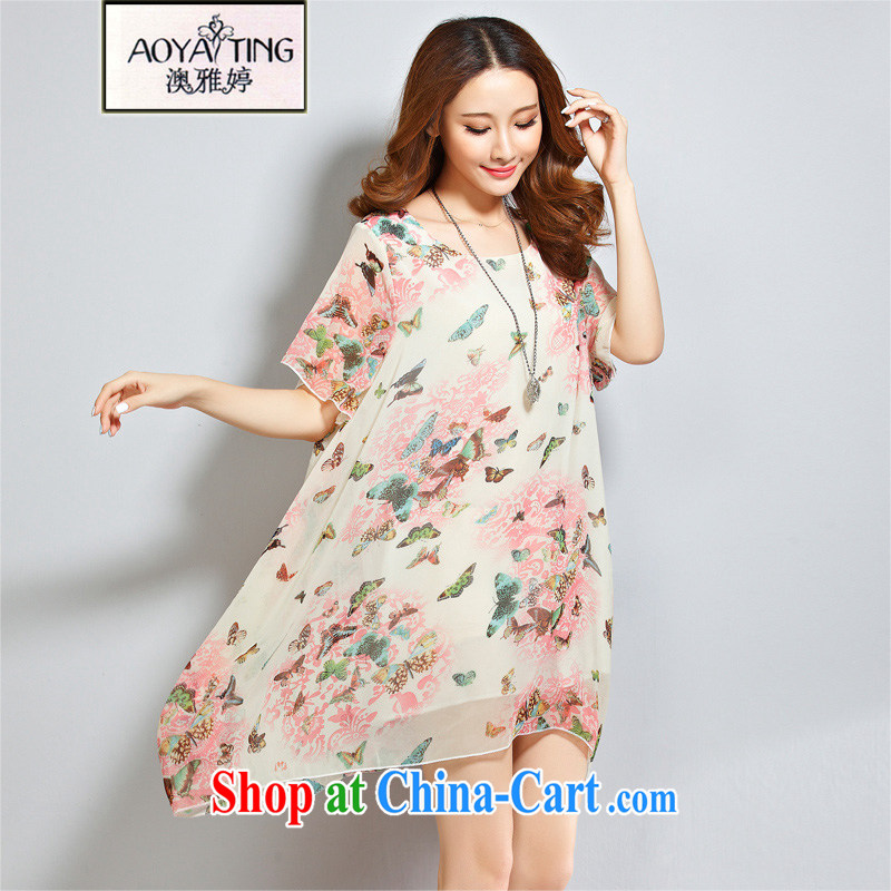 o Ya-ting 2015 New, and indeed increase, female summer thick girls with graphics thin ice woven holiday dress girls pink butterfly stamp XL recommends that you 160 - 200 jack