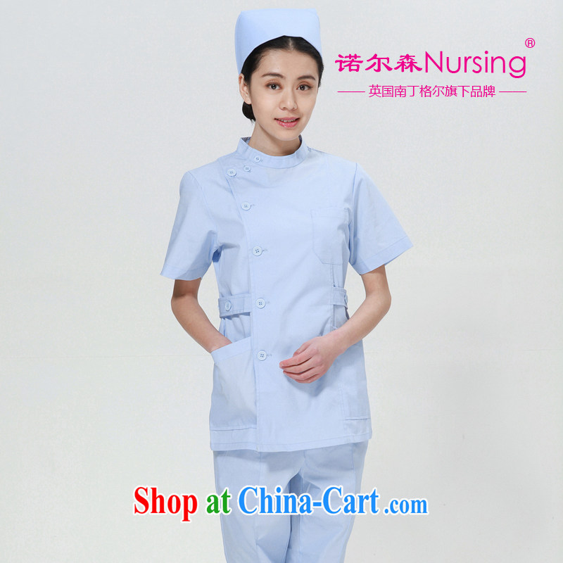 The Nightingale, Knowlson Nursing Service NS - 06 D short-sleeved Doctors serving robes clothing female summer sky blue XXL