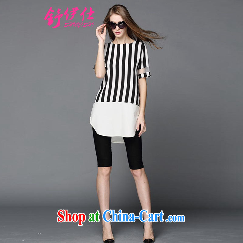 Shu, Mr Rafael Hui in Europe and the stylish summer new thick mm and indeed XL female T shirts loose T-shirt snow woven King indeed sister aura shirt 200 Jack picture color the code XXXXL