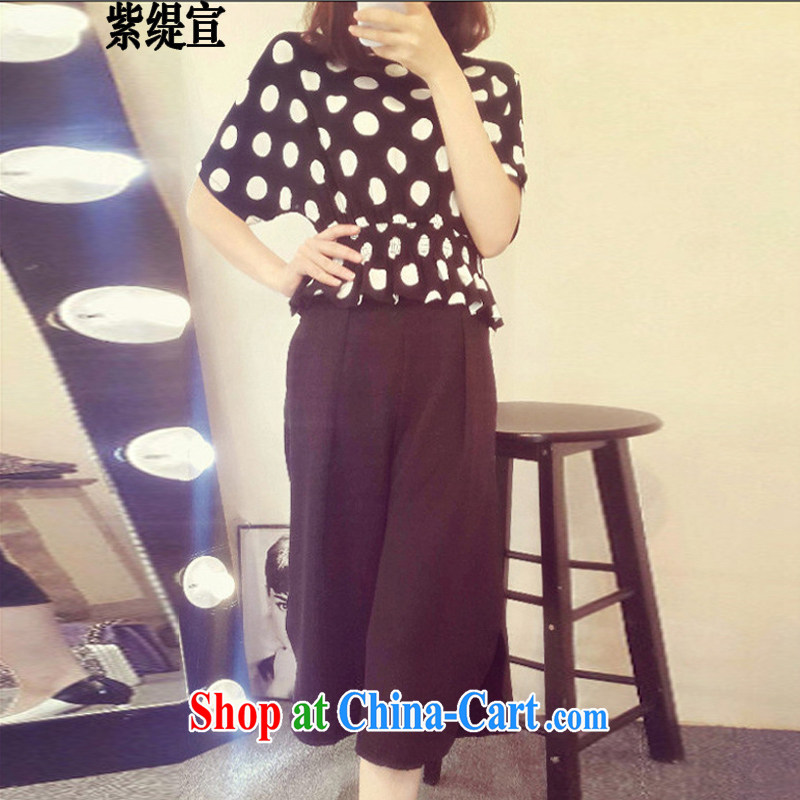 First economy summer sun new stylish and indeed XL women mm thick two-piece Korean Wave, snow-woven shirts T-shirt + 7 pants 7231 _3 XL 150 - 160 Jack left and right