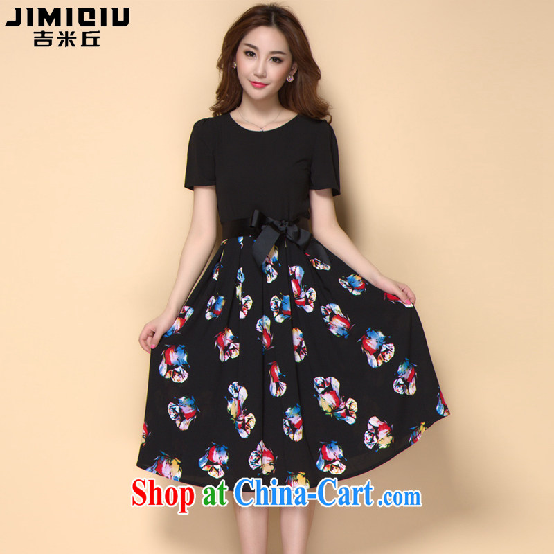 Jimmy Hill summer 2015 new the FAT and FAT mm larger graphics thin ice woven dresses A 928 photo color XXXL