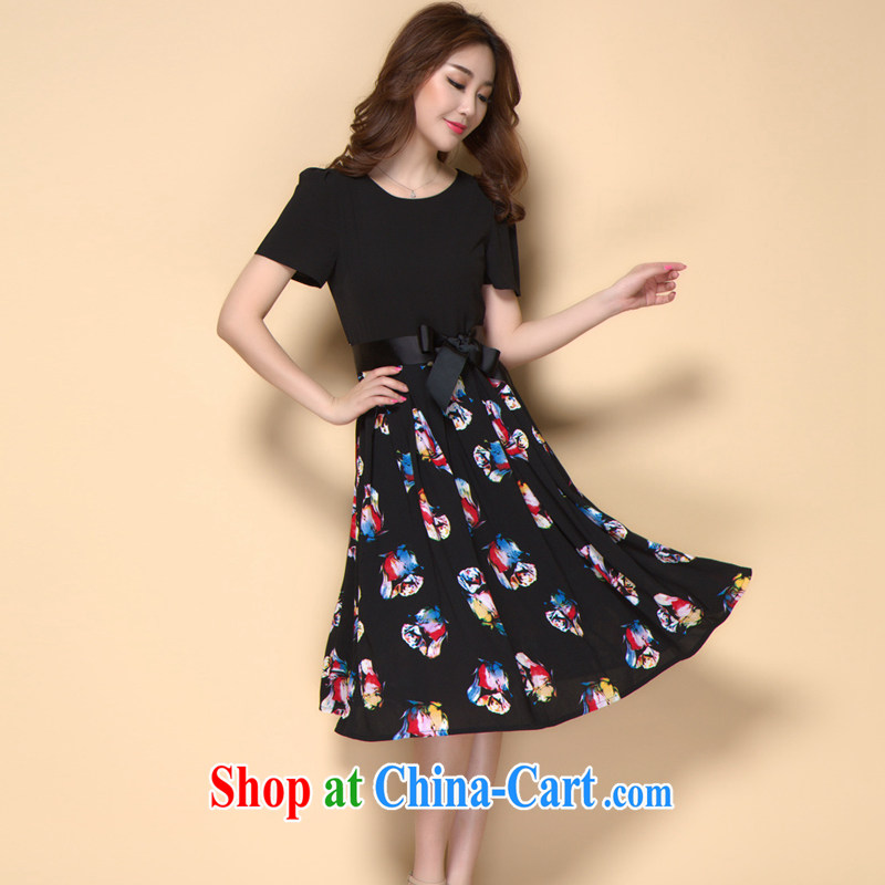 Jimmy Hill summer 2015 new the FAT and FAT mm larger graphics thin ice woven dresses A 928 photo color XXXL, Jimmy Hill (JIMIQIU), online shopping