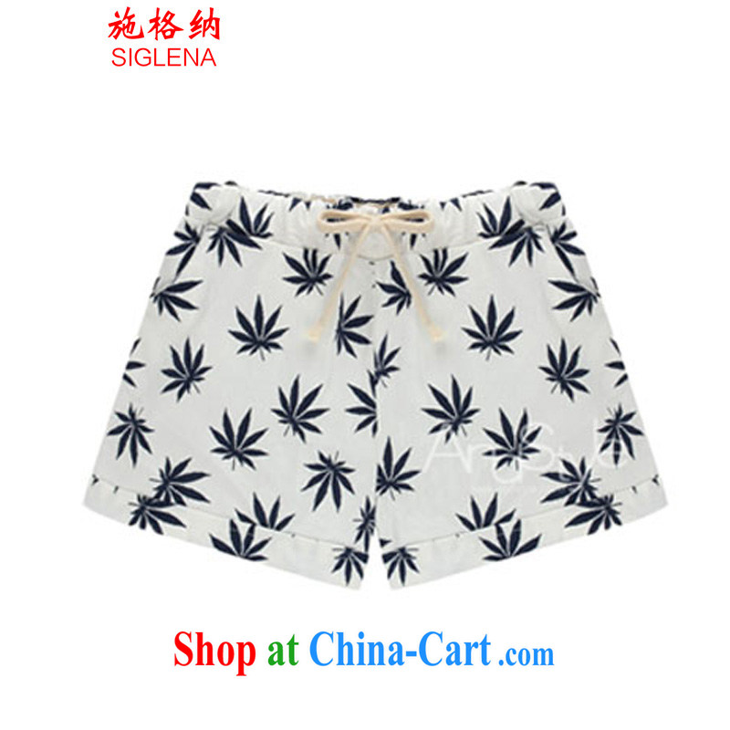 Rate the 2015 summer maximum code female thick MM shorts hot pants female Elastic waist and stylish beauty 200 Jack shorts 5135 leaves take XXXXXL