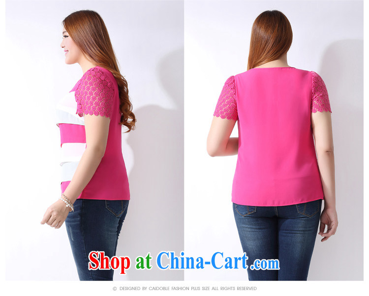 The multi-po 2015 summer new thick MM larger female Korean Hit-color stitching short-sleeved snow woven shirts A 3801 rose red 3 XL pictures, price, brand platters! Elections are good character, the national distribution, so why buy now enjoy more preferential! Health