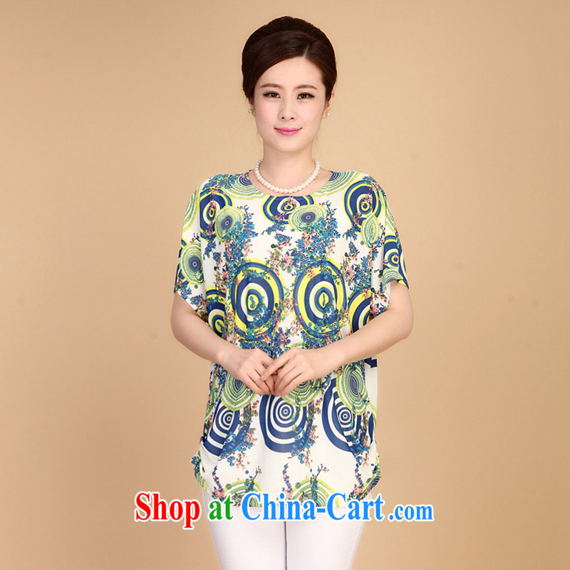 The increase is indeed code MOM replace summer middle-aged and older women summer short-sleeve T-shirt 200 Jack middle-aged women's T-shirt 3 XXXL recommendations 160 - 200 jack