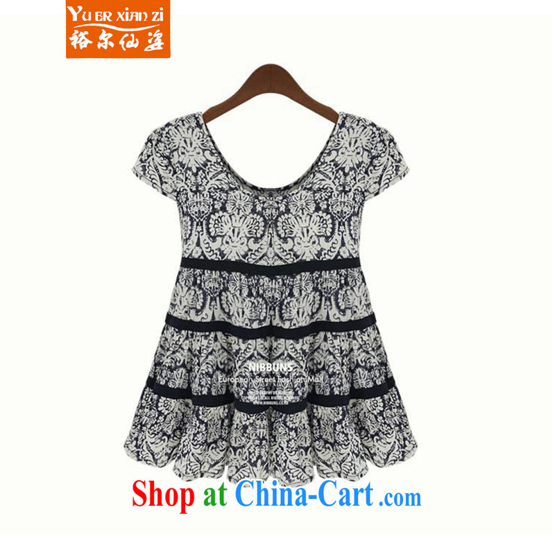 Yu's Sin City super king size, female fat sister and relaxed dress is indeed the Borneo summer T-shirt picture color 5 XL recommends that you 175 - 200 jack