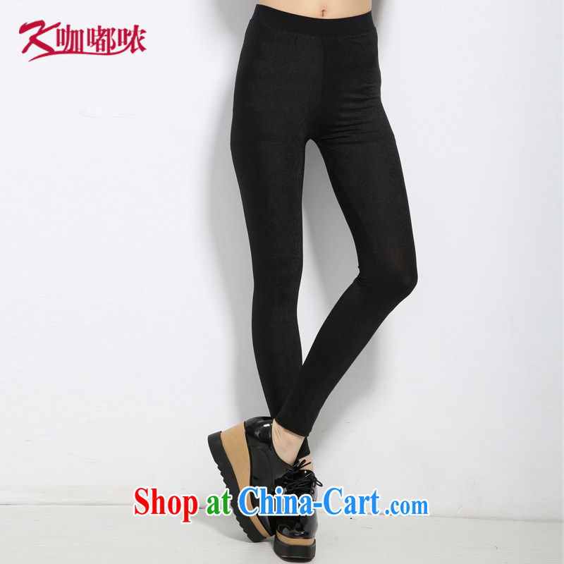 Coffee murmured the Code women 2015 summer new thick MM increase the fat-pop-up cultivating ground 100 9 pants black XXXXL