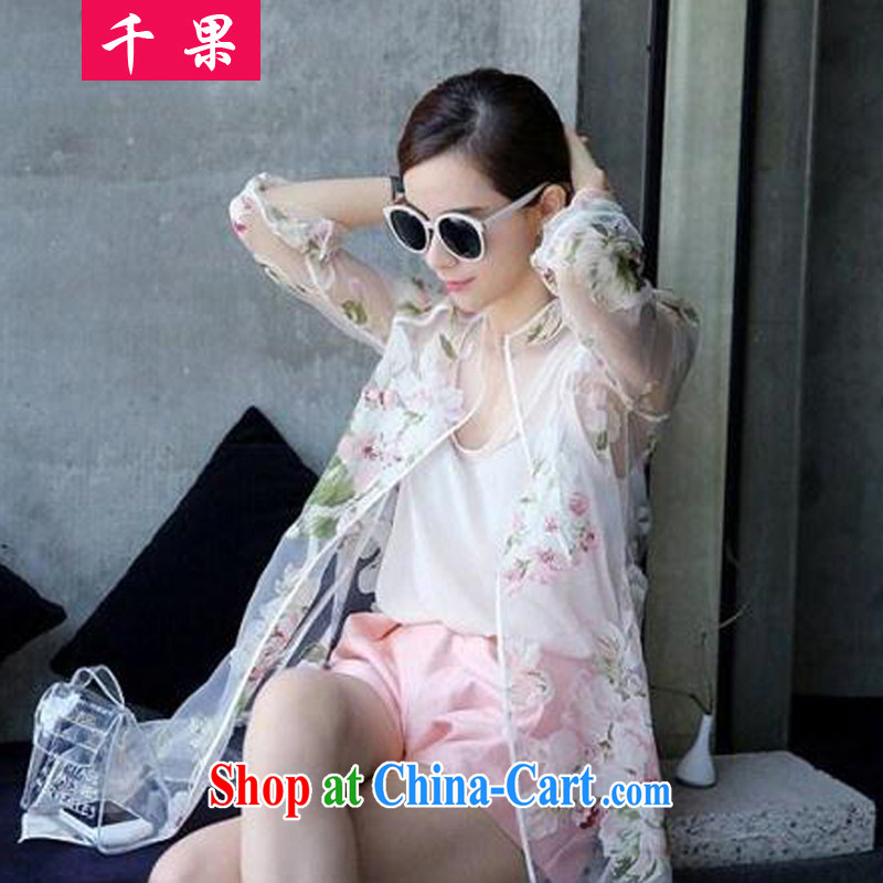 1000 fruit XL female sunscreen clothing and thick mm 2015 summer wear thick, graphics thin, long, stamp duty on long-sleeved shirts and belt transparent thin coat 363 3 XL recommendations 160 - 190 jack