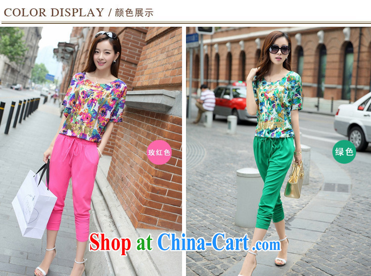 He thanked the fat XL girls thick mm summer short-sleeved T-shirt Jack thick sister Korean version 7 pants Leisure package of red (T-shirt pants) code 3XL 160 - 180 Jack pictures, price, brand platters! Elections are good character, the national distribution, so why buy now enjoy more preferential! Health