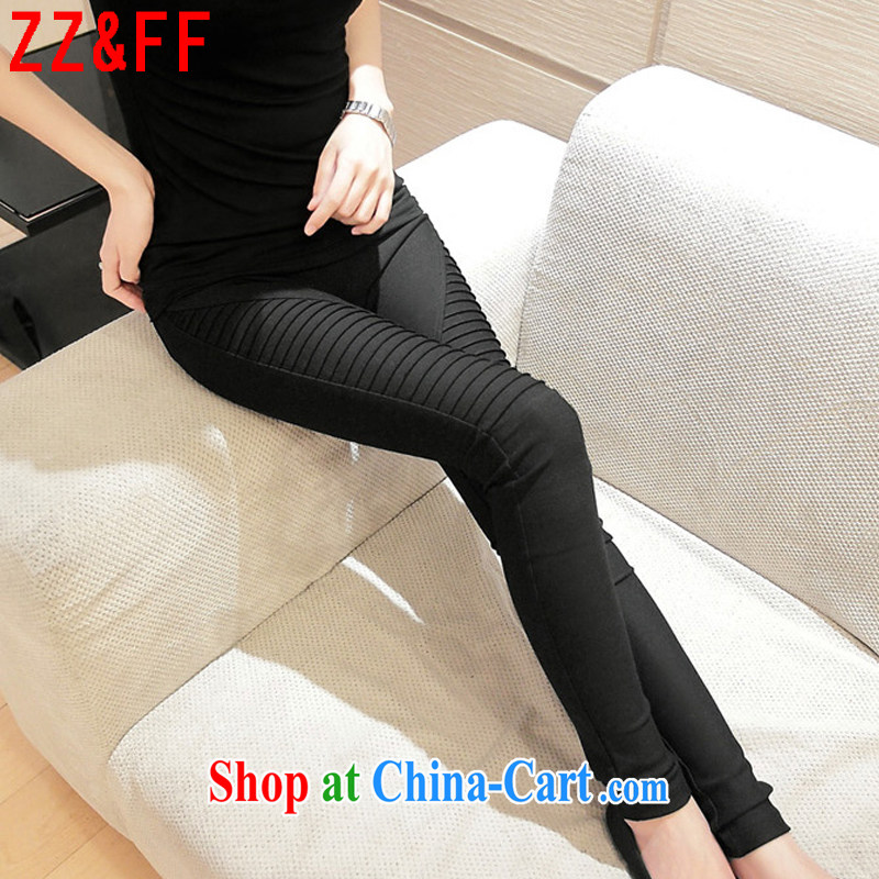 ZZ _FF 2015 summer new large, stylish lounge solid warranty and trousers female XZ 5106 black XXXL _160 - 200_
