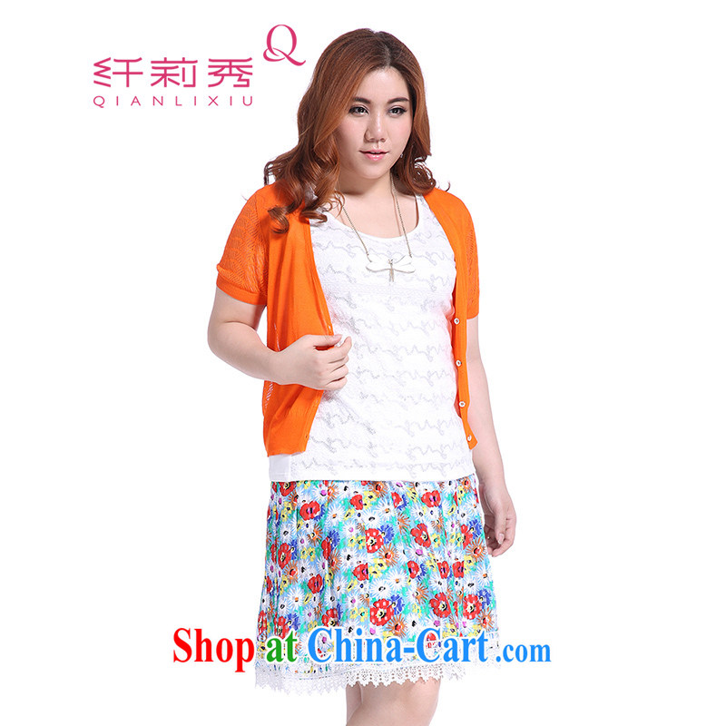 Slim LI Sau 2015 summer new, larger female candy colored language empty stretch out a small shirt short-sleeved light ultra 100 to ground the Netherlands Q 5005 orange 3 XL