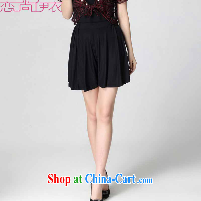 The emphasis on her sister summer short skirt relaxed, 100 hem dress pants and indeed increase the waist leisure short pants, generation, cotton hot pants mm thick pants black 4 XL approximately 170 - 220 jack
