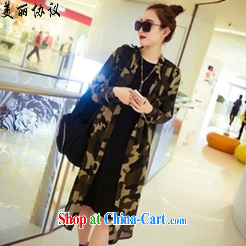 Beautiful agreement was indeed the XL women summer new graphics thin sunscreen clothing 200 Jack Korean camouflage jacket snow woven shirts cardigan SJL 2832 photo color XXXXL