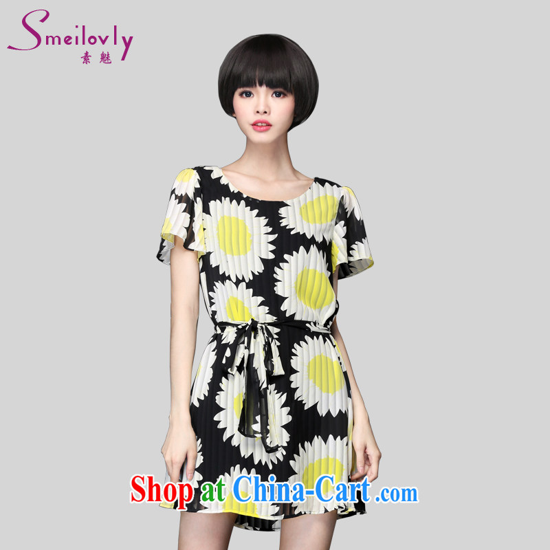 Director of 2015 summer new 200 jack and indeed XL women mm thick Korean short-sleeved stylish stamp snow woven dresses 2892 pictures the color code 5 200 XL about Jack