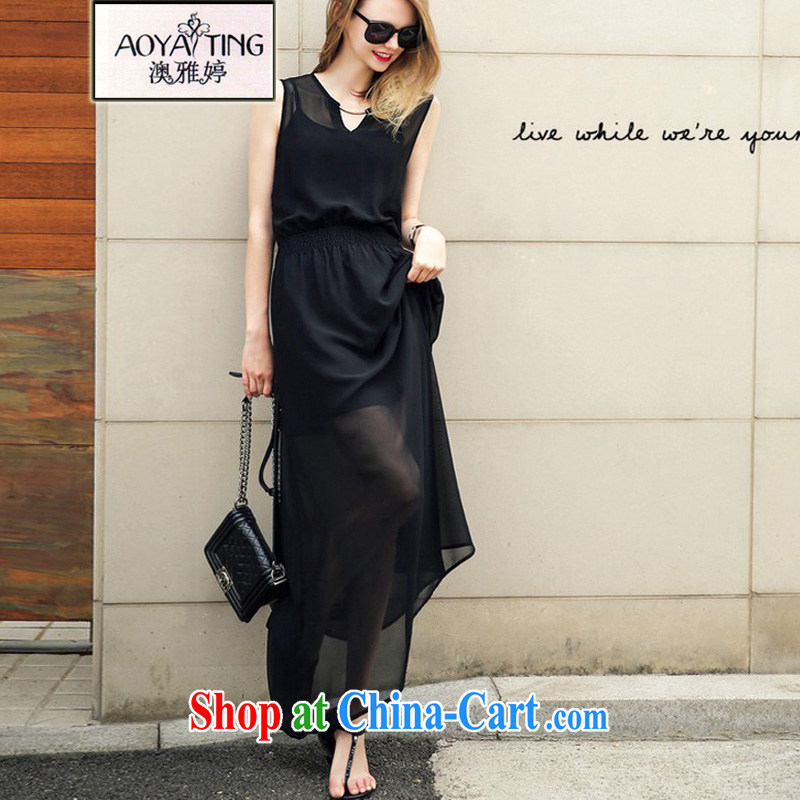o Ya-ting 2015 new and indeed XL women mm thick snow woven dresses beauty aura video slim skirt black 5 XL recommends that you 175 - 200 jack