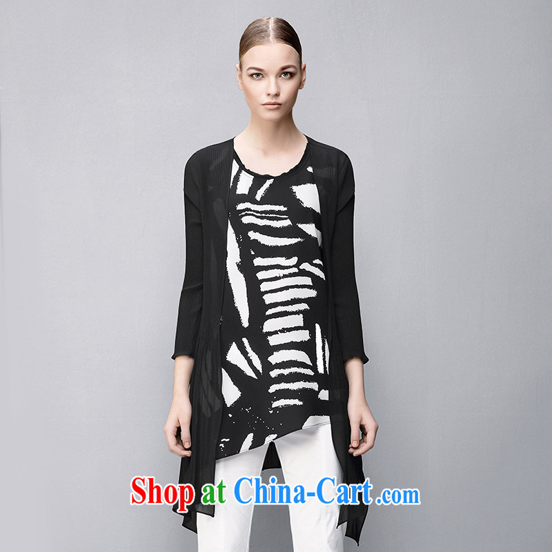 The wheat high-end large, female 2015 summer new, thick mm personality relaxed 7 sleeveless suit 852363288 2 XL