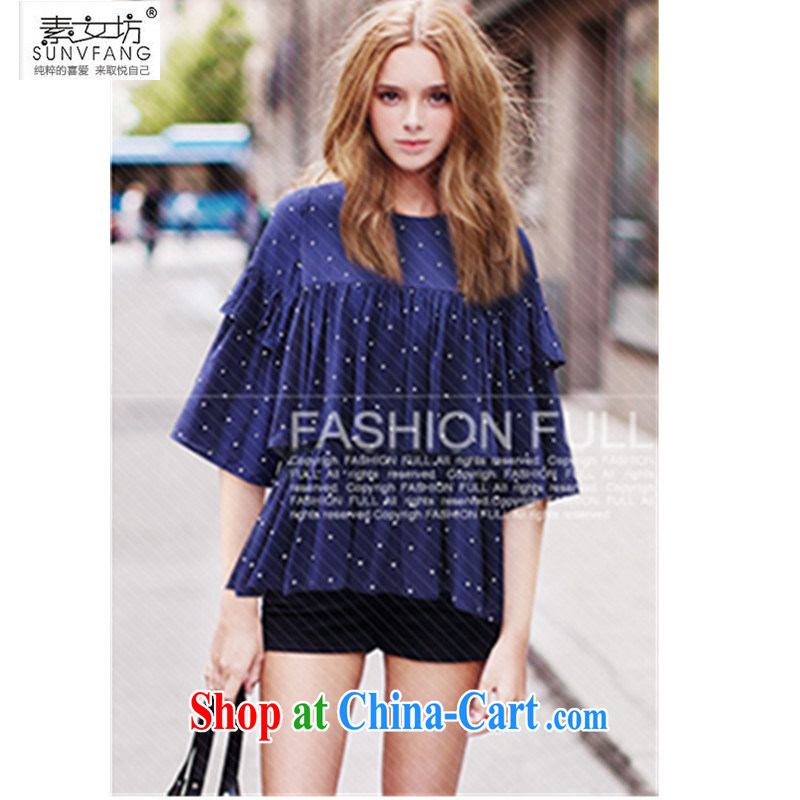 Quality Female Square 2 015 summer women in Europe and America, increase the ventricular hypertrophy, female snow woven shirts thick MM graphics thin wave point T-shirt 227 photo color 5 XL recommendations 185 - 210 jack