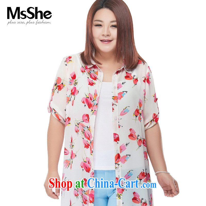 MsShe XL girls 2015 new Summer Snow stamp duty woven backing the shirt jacket long pre-sale 4601 suit 4 XL - pre-sale from 30 June to the