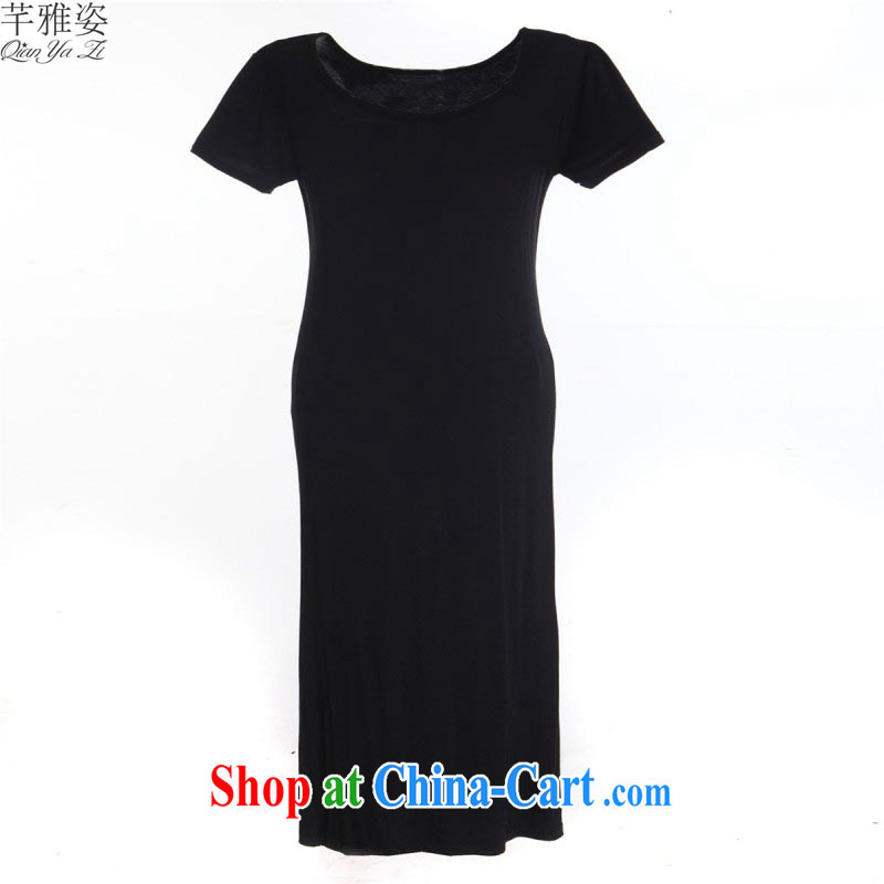 The Zhao is with His Excellency, dresses and ventricular hypertrophy, Yi leisure solid color long skirt simplicity with comfort long skirt mm thick solid skirt ladies skirt black 3 XL approximately 140 - 170 jack